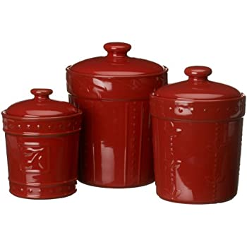 colorful kitchen canisters signature housewares sorrento collection 11057
