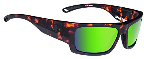 Spy Optic Rover Polarized Square Sunglasses, Soft Matte Camo Tort/Happy Bronze Polar/Green Spectra, 1.5 - Sunglasses Dna Polarized