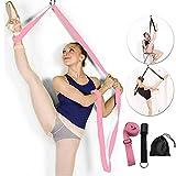 Manco Luella Adjustable Leg Stretcher Lengthen Ballet Stretch Band - Easy Install on Door Flexibility Stretching Leg Strap Great Cheer Dance Gymnastics Trainer Stretching Equipment Taekwondo Training