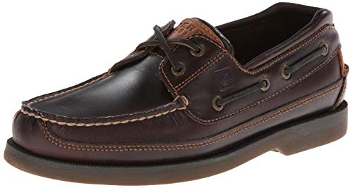 Sperry Men's Mako 2 Eye Boat Shoe, Amaretto, 11 W US - Mens 5 Eye Padded Collar