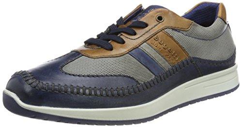 Zapatos Con Cordones Bugatti Hombres Azul, (azul Oscuro / Gris) 311385041111-4115 Azul Oscuro / Gris