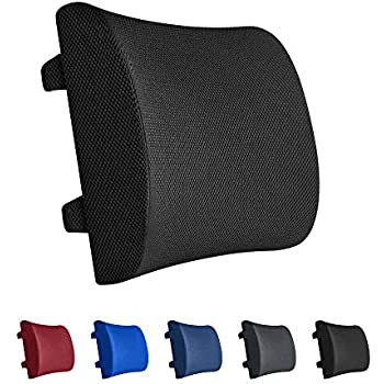 Home//Computer//Office Chair MEKBOK Memory Foam Lumbar Support Pillow Back Cushion Designed for Lower Back Pain Relief Provides Maximum Back Support for Car Recliner Adjustable Strap
