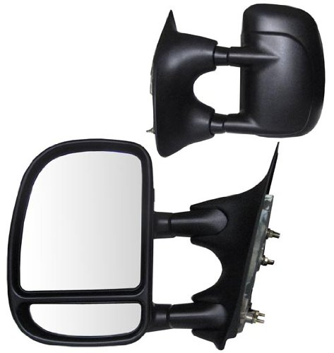 Fit System 61067-68F Ford Pickup Driver/Passenger Side Manual Foldaway Replacement Towing Mirror Set with Dual ()