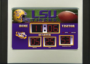 LSU Tigers Football Scoreboard Desk Alarm Clock