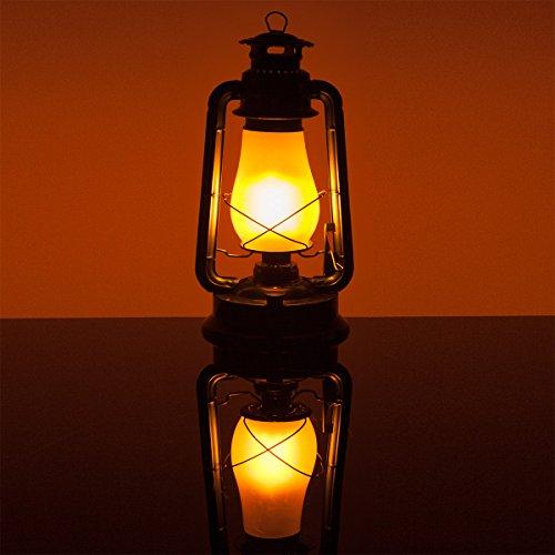 Black Electric 15.5' Metal Flickering LED Electric Lantern – Christmas Lanterns, Lantern LED Decoration, Vintage Lanterns, Hanging Lanterns