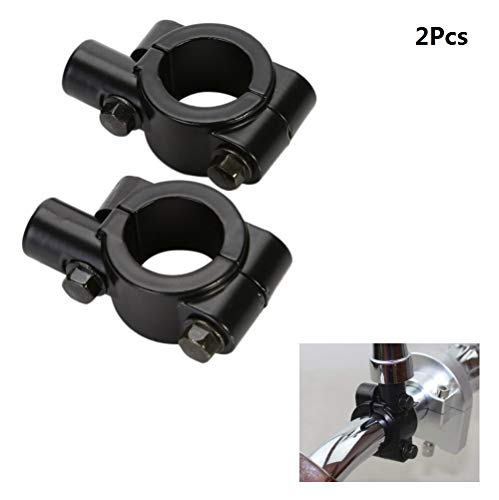 Voarge 2 stuks 7/8 inch universele stuurspiegelhouder stuurhouder motorfiets spiegel houder stuurhouder (zwart)