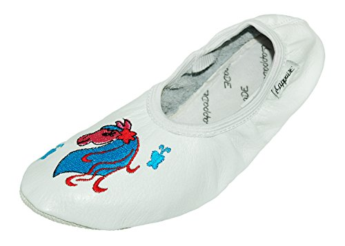 de DE CHAUSSURES chaussons sport Blanc DANSE chaussons lappade turnschläppchen Lappa AVEC Ballet Chaussures de LA ballerines chaussures Cheval DE de BRODERIE 78KgqOA