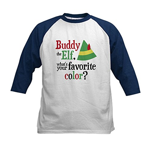 CafePress - Elf Favorite Color - Kids Cotton Baseball Jersey