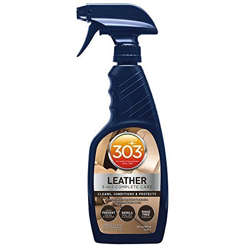 303 Leather Cleaner and Conditioner - UV Protectant- Cleans, Conditions, and Restores Leather and Vinyl Luggage, Handbags, Shoes, Furniture and more, 16 fl. (Unfinished Purses)