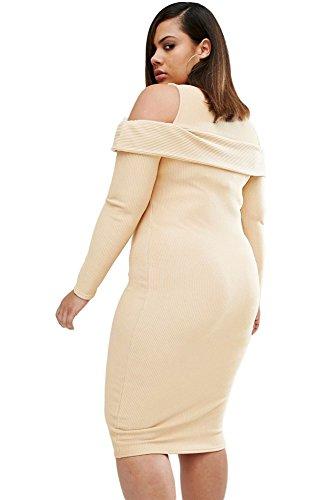Nueva mujer Plus Size acanalada vestido Casual noche fiesta cóctel crucero Wear Plus Size XXXL UK 16–�?8EU 44–�?6