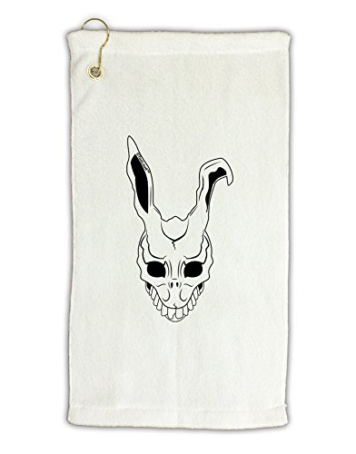 [TooLoud Scary Face Bunny White Micro Terry Gromet Golf Towel 11