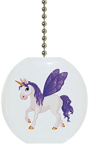Ceramic Fan Pull (Purple Unicorn Solid Ceramic Fan Pull)