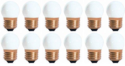 50 Pack 7.5 Watt S11 Medium Base 130 Volt 2500 Hour Ceramic White Sign or Indicator Light Bulb