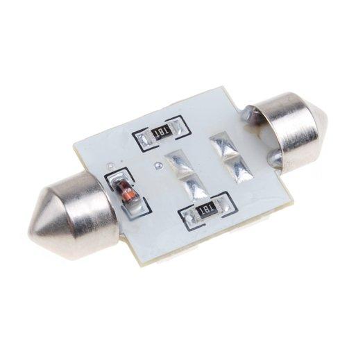 37mm 6 LED SMD Bulbo de Adorno Blanco Festoon de Bombilla Blanca Generic