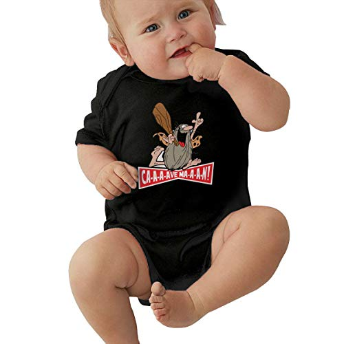 TAOHJS89 Baby Short-Sleeve Jumpsuit Bodysuit Captain Caveman CuteBaby One-Piece Clothes Black -