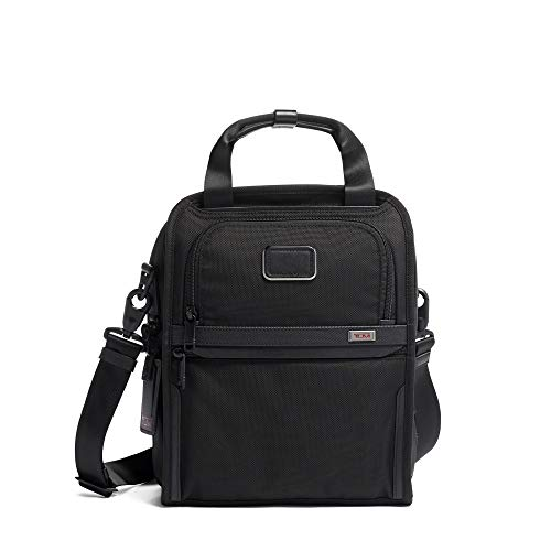 TUMI - Alpha 3 Medium Travel Tote - Satchel Crossbody Bag for Men and Women - Black (Best Medium Sized Crossbody Bag)