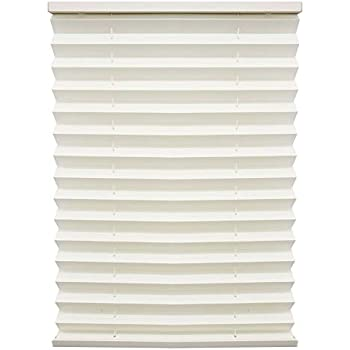 38 W x 24 L RecPro RV Camper Pleated Blind Shades Cotton