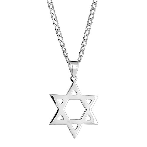 - Ritastephens Men's Sterling Silver Star Of David Charm Jewish Pendant Necklace 24 Inches …