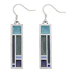 DANFORTH - Riversong/Twilight Wire Earrings - 1 1/2 Inches - Handcrafted - Made in USA