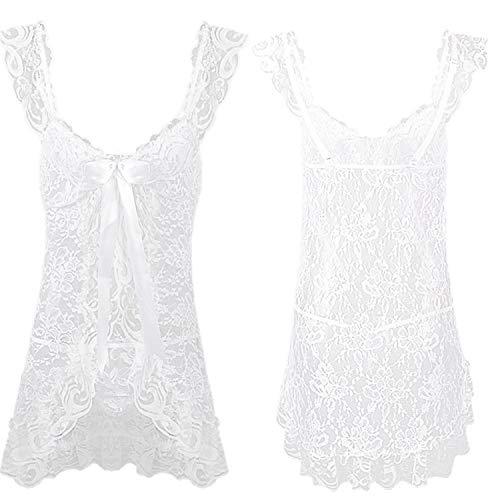 Women Lingerie Sexy Hot Erotic Costumes Lace Sleepwear Nightgown + Thongs Bodydoll Underwear Plus Size Sexy Nightwear -