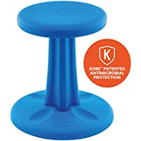 Kore Patented WOBBLE Chair | Now Antimicrobial Protection | Stem Flexible Seating | Made in the USA - Active Sitting Kids - Blue - Kids (14in)