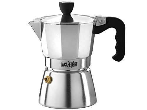 La Cafetiere Stovetop Espresso, Classic Polished, 3 Cup