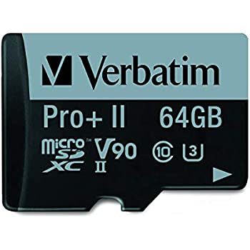 Amazon.com: Verbatim 64GB Pro II Plus 1900X microSDXC ...