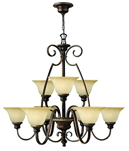 Hinkley 4568AT Traditional Nine Light Foyer from Cello collection in (Hinkley Cello)