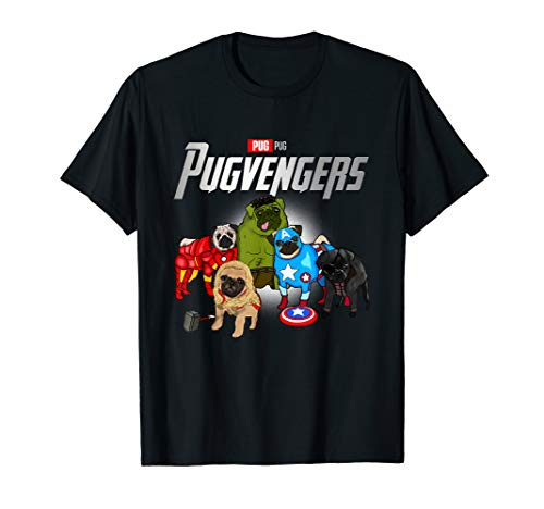 Funny Pug Dog Lover Gift Pugvengers For Women Men Fans T-Shirt