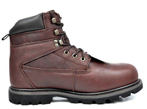 arctiv8 Mens Titan-S Full-Grain Leather Steel Toe Work Boots Brown ylTYsY8UiZ