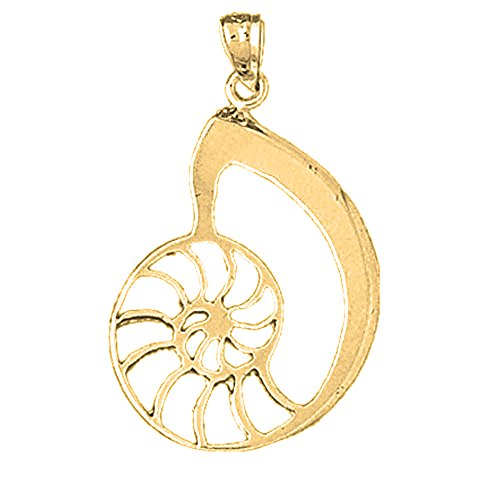 Jewels Obsession Nautilus Shell Charm Pendant | 14K Yellow Gold Nautilus Shell Pendant - 34 mm ()
