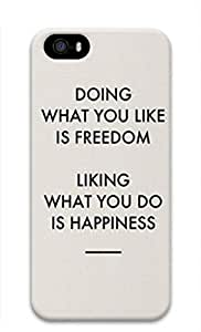 iCustomonline Freedom And Happiness Designs Case Back Cover for iPhone 5 5S PC Material by ruishername