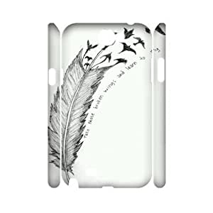 Feather Quote Fly Customized 3D Cover Case for Samsung Galaxy Note 2 N7100,custom phone case ygtg617083