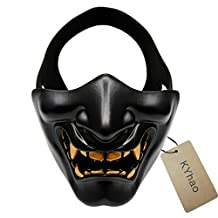 KYhao Costume Party Cosplay Halloween Half Face Mask Lower Face Protective Mask for Airsoft Paintball BB Gun CS Game Ideal Mask