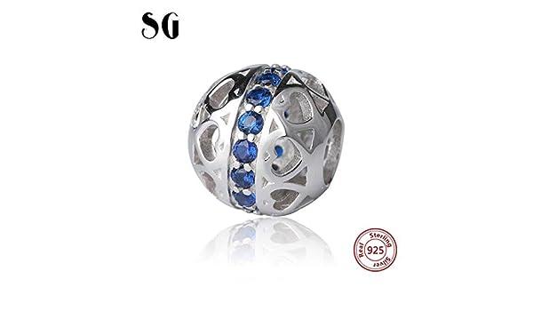 Pukido Aliexpress - Abalorio de plata de ley 925, compatible con pulseras Pandora y Berloques originales, para regalo de joyería (color: SGJF8850-P): Amazon.es: Juguetes y juegos