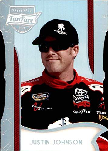(2011 NASCAR Press Pass FanFare Holofoil Die Cuts #64 Justin Johnson)