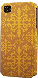 Vintage Damask Pattern Dimensional Case Fits Apple iPhone 4 or iPhone 4s