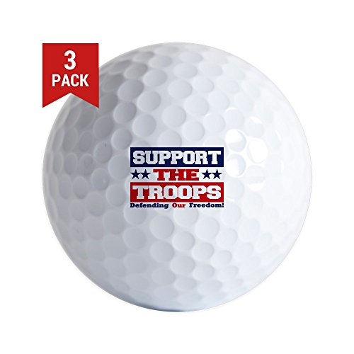 Golf Balls (Set of 3) Support the Troops and Our Freedom by Royal Lion