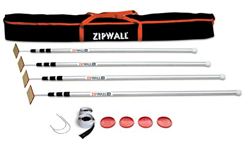 ZipWall 12' 4-Pack Spring-Loaded Poles for Dust Barriers, SLP4 ()