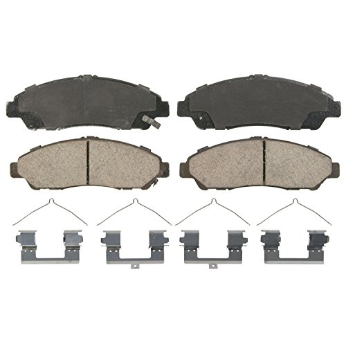 Wagner QuickStop ZD1378 Ceramic Disc Pad Set Includes Pad Installation Hardware, Front