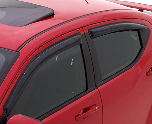 Original Ventvisor Side Window Deflector Dark Smoke, 4-Piece Set for 2016-2018 Toyota Prius ()