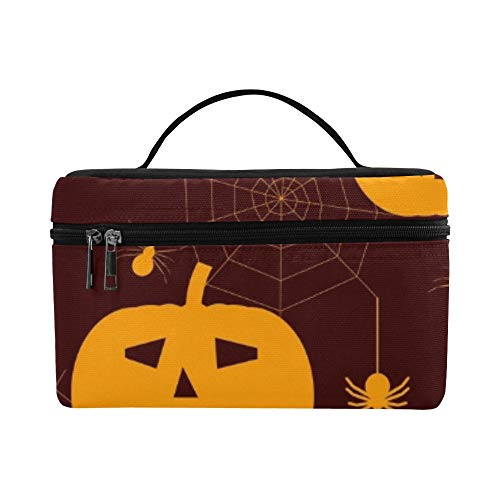 Halloween Silhouettes Spiders Lunch Box Tote Bag Lunch