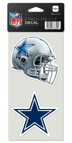 Wincraft NFL Dallas Cowboys Perfect Cut Decal (Set of 2), 4