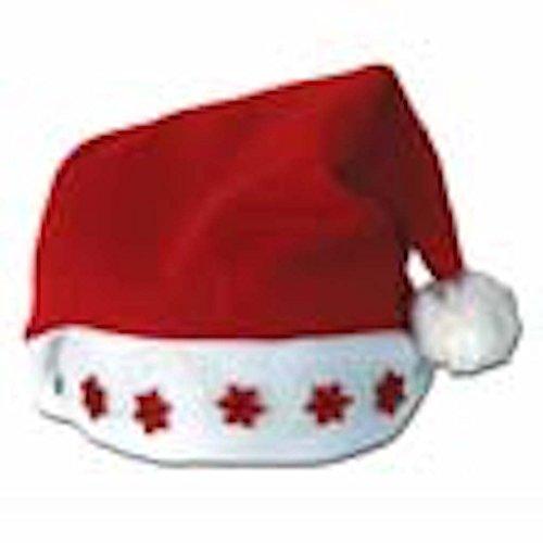 6 Light up Christmas Santa Claus Hats Hat Red Stocking (Light Up Santa Hat)
