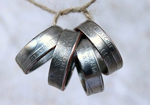 Handmade Coin Ring, State Quarter Coin Ring, Choose State and Size (6-12), Hammerd Ring, Handmade Jewelry