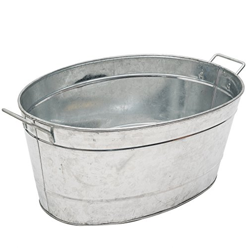 Tin Ice Buckets - Achla Designs Standard Oval Galvanized Steel Tub