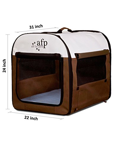 All-for-Paws-Folding-Soft-Dog-Crate-Pet-Kennel-Houses-Pens-Indoor-Outdoor