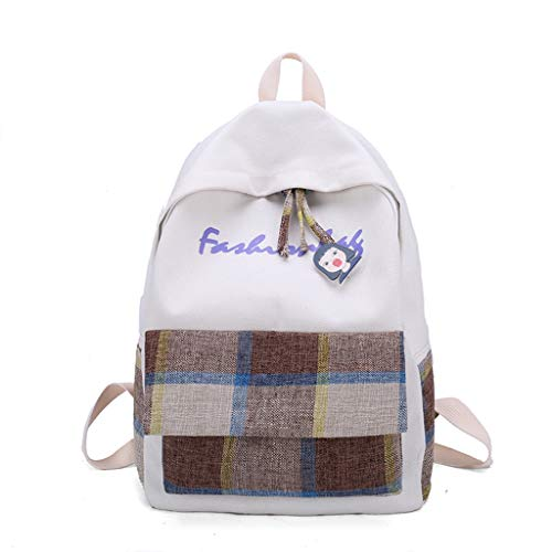 Tronet Women Fashion Backpack,Fashion Women's Simple and Versatile Backpack New Plaid Leisure Travel Backpack ()