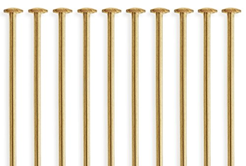 14k Gold Filled Head Pins (50 Pieces 14Kt Gold Filled Head Pins 24 Gauge 1.5 inch)