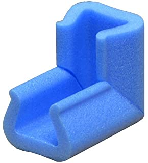 06c70320a3f 45mm x 100mm Blue Foam Corner Point Edge Protectors Cushions Baby Child  Safety Qty 20
